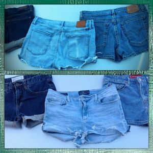 LUCKY & LEVI'S 3 for 1 Denim Jean Shorts Lot